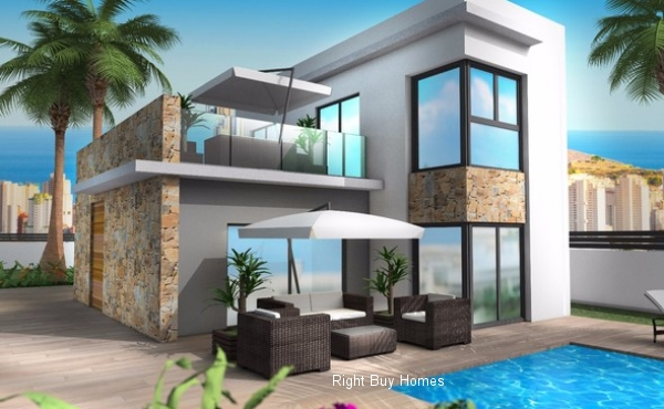 New Build Detached VIllas In Benidorm Prices Start From €490.000