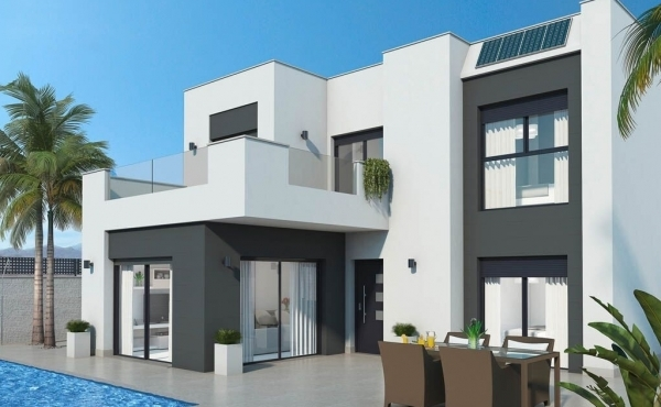 Detached new build villa with private pool in Ciudad Quesada