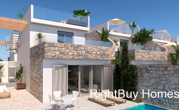 luxury development with 3 bed 2 bath villas with private pool
