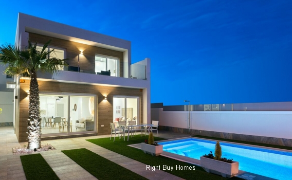 3 Bed 2 Bath New Build Villas In Pillar De La Horadada